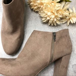Madden Girl Party Taupe Heeled Ankle Bootie